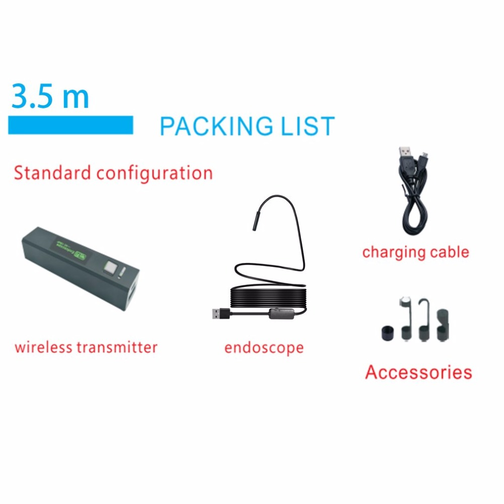 Wireless WiFi Endoscope Mini Waterproof Semi Rigid Inspection Camera 8mm Lens 8LED Borescope For IOS & Android PC 5M hard Wire 网络安全与软件系统修复