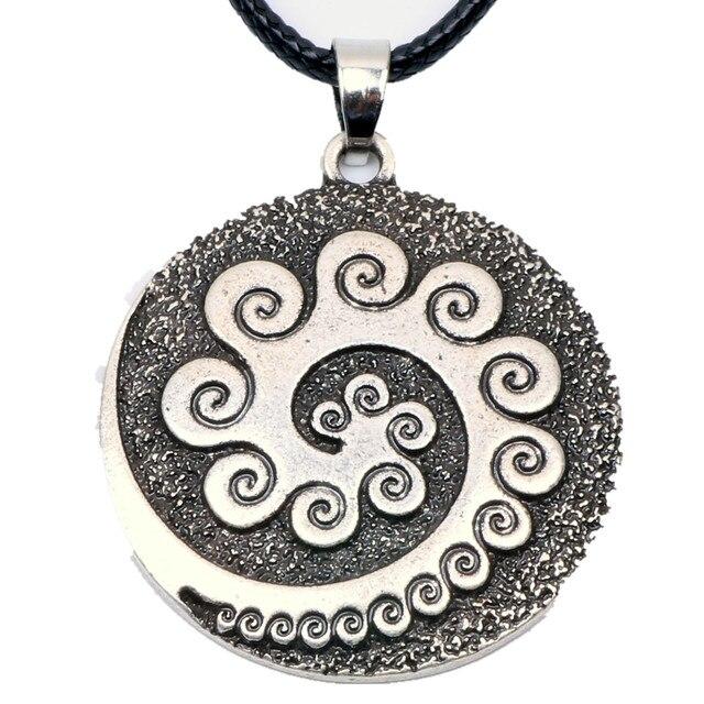 Aboriginal Koru Necklace Pendant Maori Twist Symbol Mask Manaia