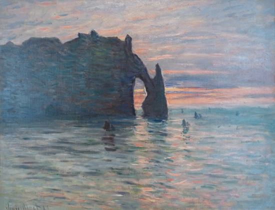 The Cliff Etretat Sunset Claude Famous Oil Paintings