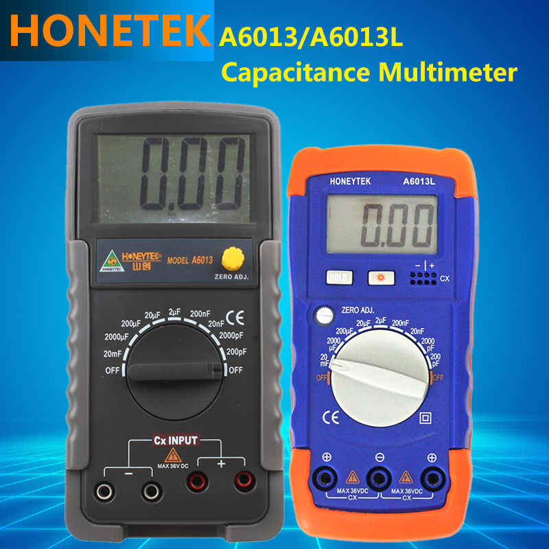 A6013 Series Auto Range Digital LCD Capacitance inductance Multimeter, manual Operation way Measurement Tester Meter high precision digital capacitance inductance meter auto ranging component tester 500kh lc rc oscillation inductance multimeter