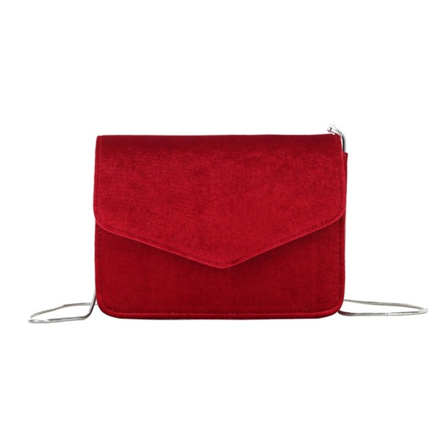 Fashion Women Evening Shoulder Bag Bridal Clutch Chain Velvet Silk Bottom Handbag Elegant Party Bags Wedding Lady Messenger Bag 5