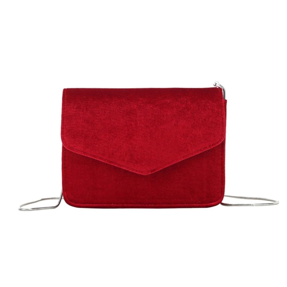 Fashion Women Evening Shoulder Bag Bridal Clutch Chain Velvet Silk Bottom Handbag Elegant Party Bags Wedding Lady Messenger Bag