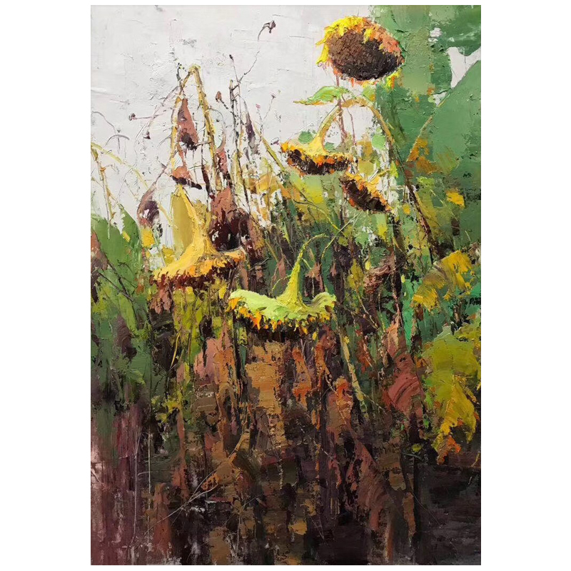 100 Hand Painted Abstract Plant Art Oil Painting On Canvas Wall Art Wall Adornment Pictures Painting For Living Room Home Decor in Painting Calligraphy from Home Garden