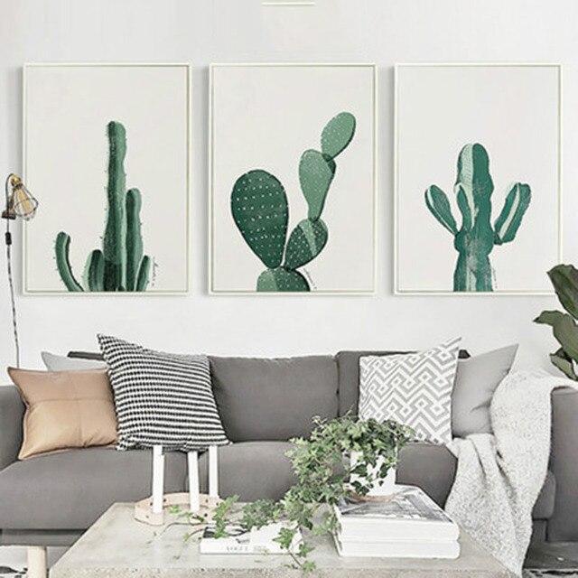 Vert Cactus Vitalité Jaune Rouge Fond Simple Intéressant Artistique ...