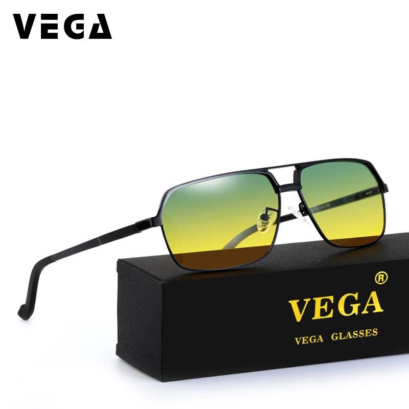 VEGA Aluminum Magnesium Alloy Frame Polarized Day Night Sunglasses Women Men HD Vision Glasses At Night Driving Glasses 8549