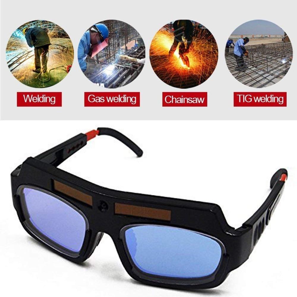 Hot Pro Solar Auto Darkening Welding Mask Helmet Eyes Goggle Welder Glasses Arc PC Lens Large Welding Protection Glasses in Welding Helmets from Tools