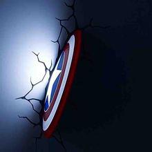 купить Marvel avengers  Iron Man LED bedside bedroom living room 3D creative wall lamp decorated with light night light 3d lamp дешево