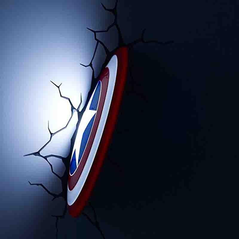 Marvel avengers Iron Man LED chevet chambre salon 3D créatif applique murale décorée de lumière veilleuse lampe 3d