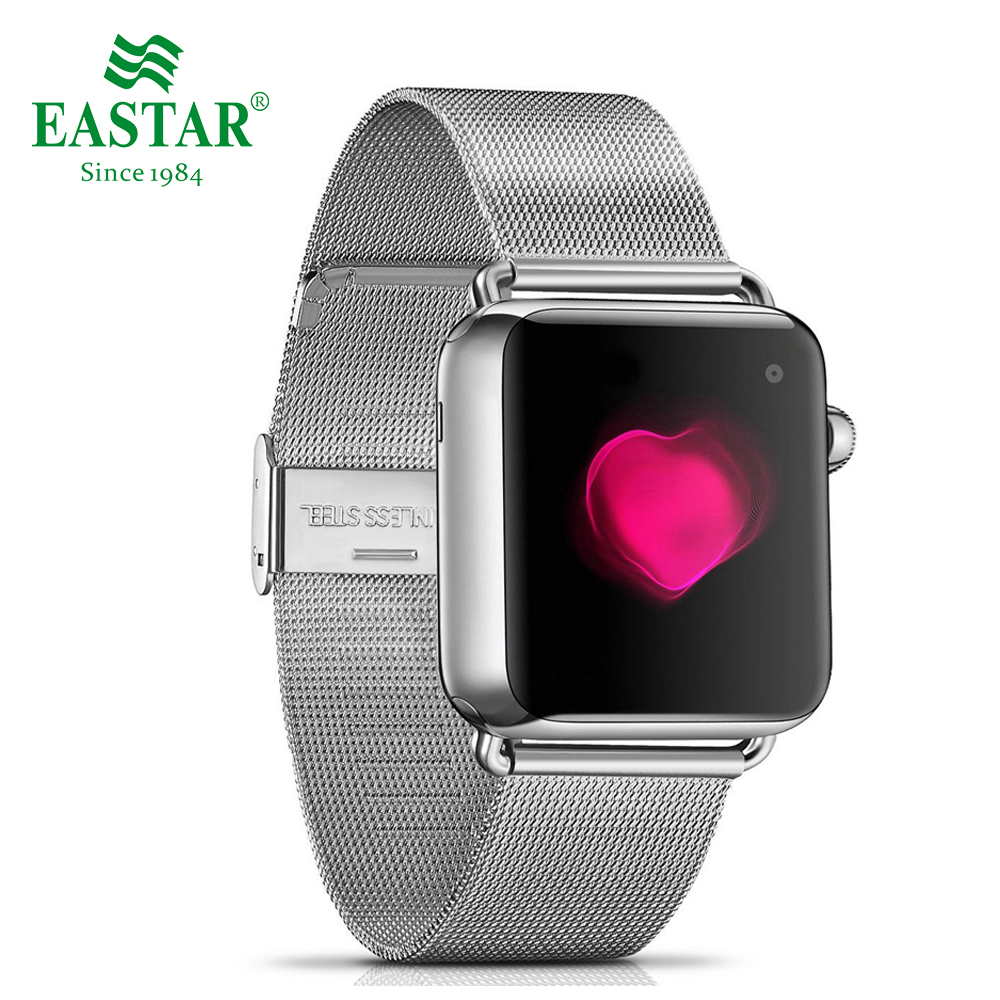 Eastar Milanese Loop Stainless Steel Watchband for Apple Watch Series 3/2/1 Double Buckle 42 mm 38 mm Strap For iwatch Band