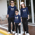 Women Men Kid Autumn Navy Sweatshirts Casual Family Clothing Mother Daughter Father Son Matching Clothing Family Set Hoodies GB7