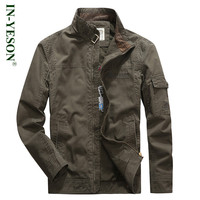 New Arrival Stand Collar Military Men Jacket Brand IN YESON High Quality Tactical Army Khaki Blue