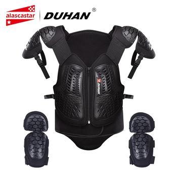 48f8874eef7 Chaqueta de motocicleta DUHAN para hombre Motocross Moto ropa de carreras  Body Armor chaleco de protección pecho protector codo almohadillas