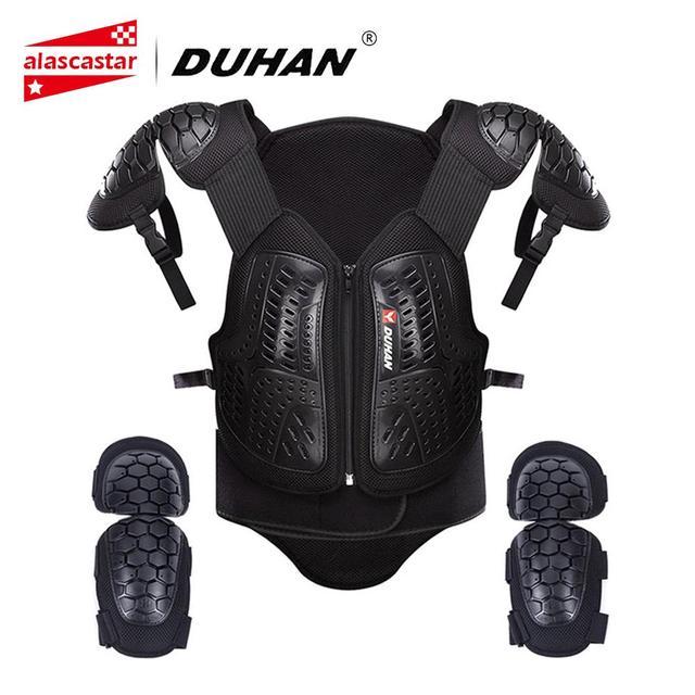 DUHAN Motorrad Jacke Männer Motocross Moto Kleidung Racing Körper Rüstung Weste Schutz Weste Brust Schutz Getriebe Ellenbogen Pads