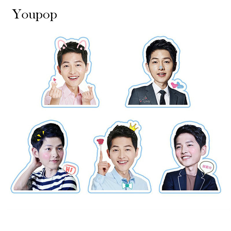 Youpop KPOP Song Joong Ki Album PVC Stickers For Luggage Cup Notebook Laptop Car Fridge DIY Stickers TZ040
