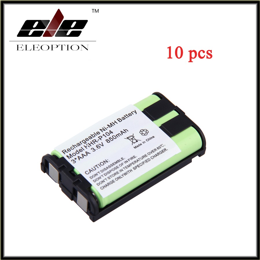 Eleoption 10pcs 3*aaa 3.6v 850mah New Cordless Phone Battery Nimh For Panasonic Hhr-p104 Hhr-p104a/1b Free Shipping Power Source Batteries