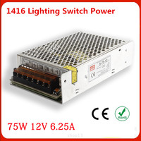 Manufacturers Selling Output 75W 12V Switch Power S 75W 12v 6 25A LED Drive Power Instrumentation