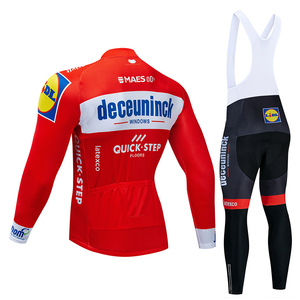 Image 2 - 4 Colors 2019 Team Cycling Jersey Set Belgium Bike Clothing Mens Winter Thermal Fleece Bicycle Clothes Cycling Wear