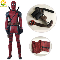 Deadpool 2 Cosplay Costume Wade Wilson PU Leather Leggings Belt Kit Costume Accessories for Halloween Party