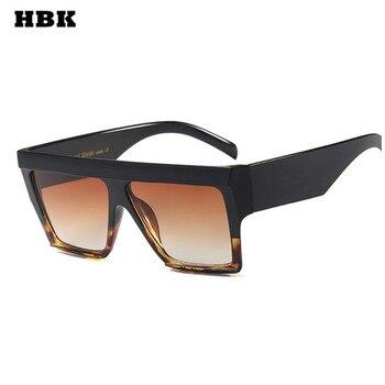 HBK Женские квадратные солнечные очки негабаритных женщин новые большие рамки мужские путешествия ретро брендовые дизайнерские градиентны... >> HBK Official Store