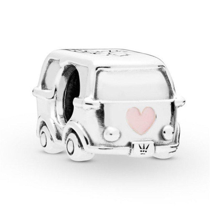 2019 Spring New 925 Sterling Silver Bus Bead Camper Van Charm Fit Original Pandora Bracelet for Women DIY Jewelry Birthday Gift in Beads from Jewelry Accessories