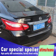 2016 2017 2018 for nissan altima / teana spoiler  ABS material any color paint by rear trunk roof primer