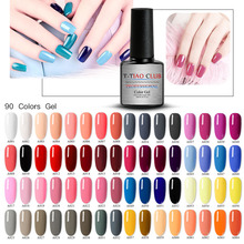 T-TIAO CLUB Gel Nail Polish 132 Pure Colors Uv Soak Off Manicure UV Varnish DIY Art Lacquer Decoration