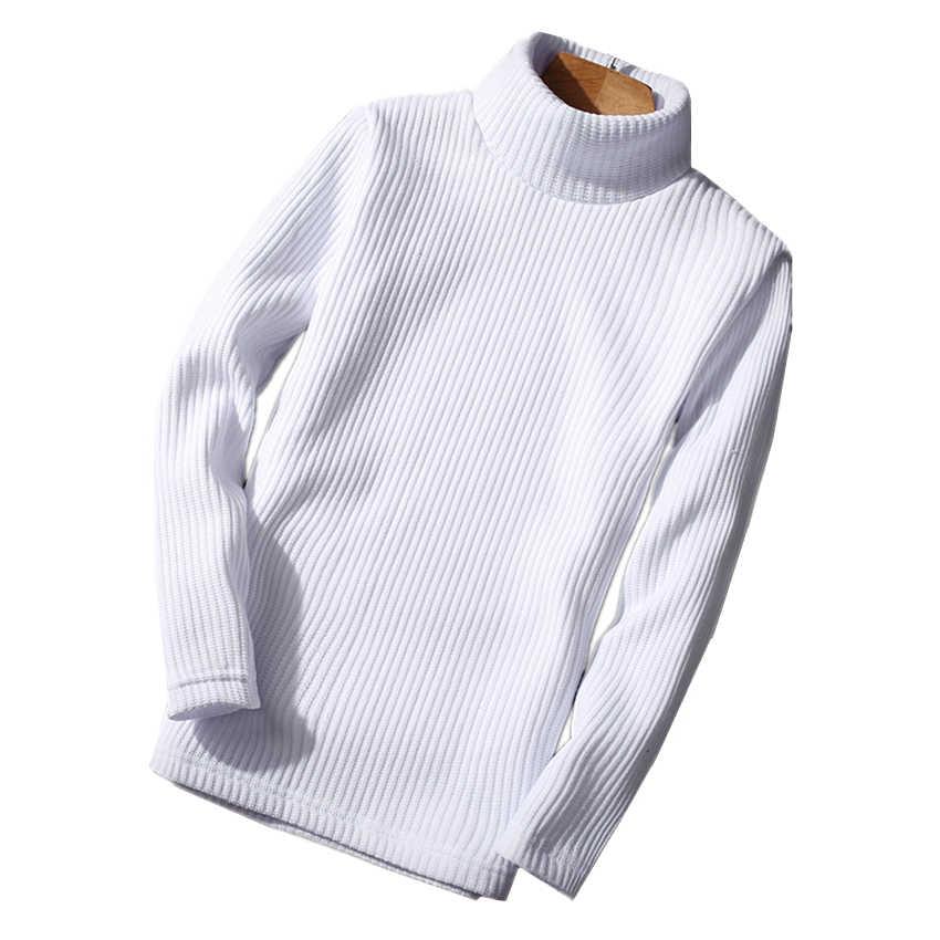 2020 겨울 망 스웨터 남자에 대 한 순수 컬러 터틀넥 스웨터 블랙 화이트 옐로우 와인 레드 블루 패션 캐주얼 남자 스웨터