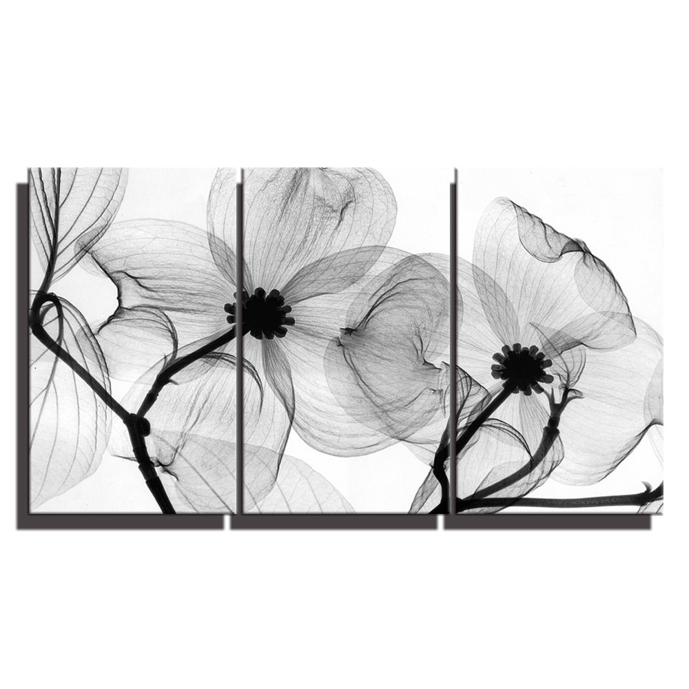 Black And White Lotus Wall Art Flowers Home Decoration Flowers Lotus