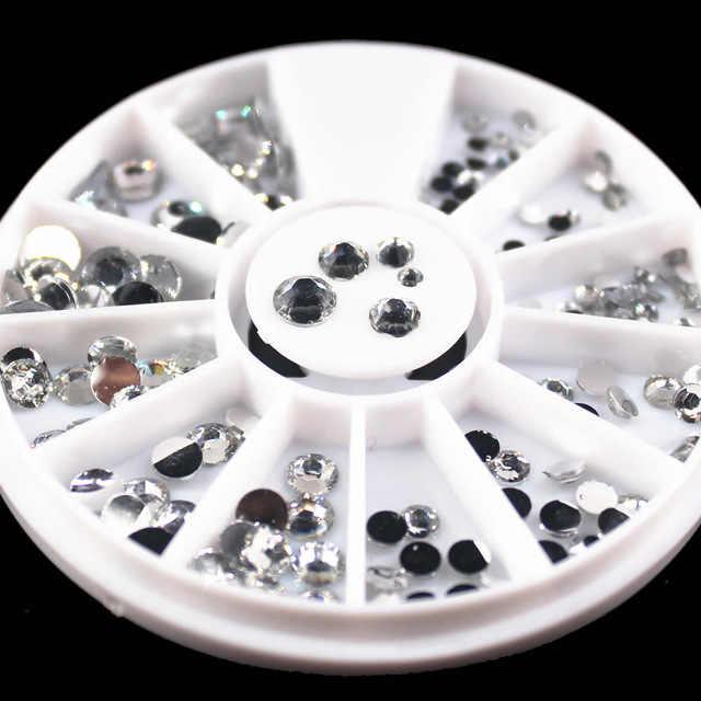 1 caixa Matte Cor Glitter Pedrinhas Cristal AB Não Correção FlatBack Strass Costura Tecido Vestuário Strass Nail Art Pedra