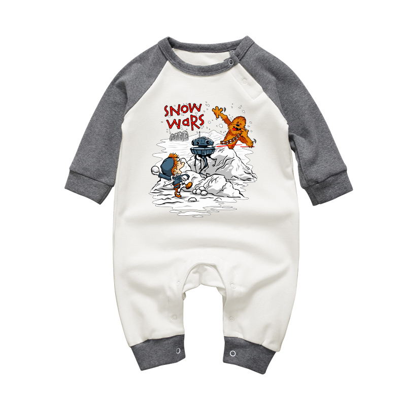 3-18M Newborn Baby Boys Rompers Autumn Winter Long Sleeve Baby Girls Jumpsuits Star Wars Cartoon Infant Cotton Costume Outfits baby clothing infant baby kid cotton cartoon long sleeve winter rompers boys girls animal coverall jumpsuits baby wear clothes