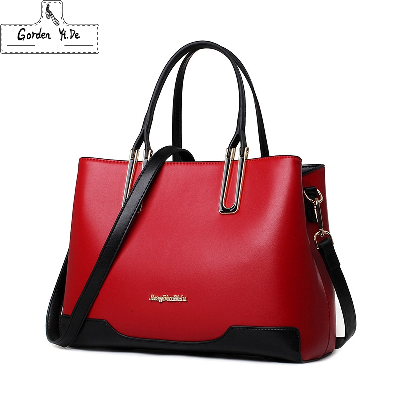 Bolso Mujer Negro 2017 Fashion Women Bag Ladies Brand Leather Handbags Stereotypes Casual Tote Bag Big Shoulder Bags For Woman new genuine leather bags for women famous brand boston messenger bags handbags tassel tote hand bag woman shoulder big bag bolso