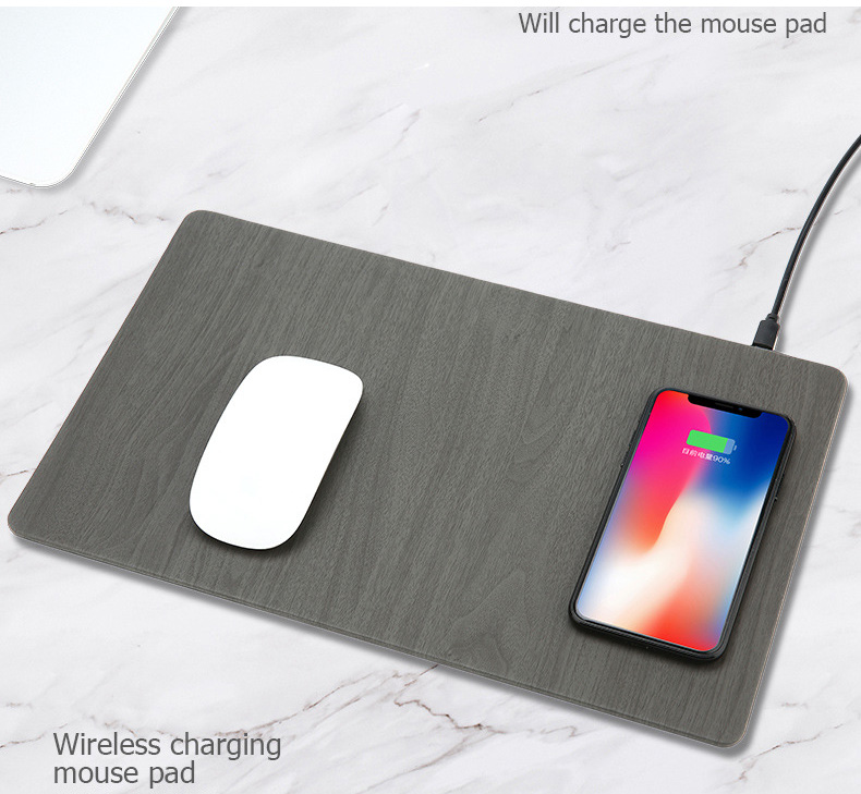 Fast Wireless MousePad Charger,2 in 1 Mouse PadMat Wood With Wireless Charger for iPhone X 8 7 Samsung Note 8S9S8 Qi Charger (13)