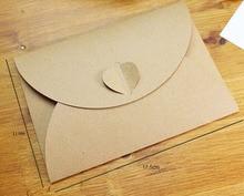 11×17.5CM 50pcs Heart Shape Pearlized Kraft Paper Envelopes Party Paper Bag for Wedding Invitation Card Crafts Party Card Decor