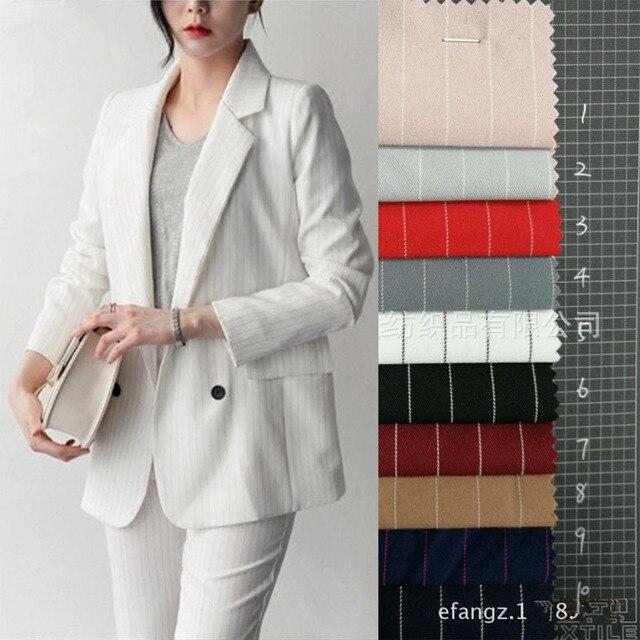 Fashion Striped fabric bwomens business suits 2 piece blazerladies elegant pant suit female office uniform trouser suit