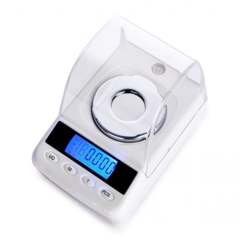 50g 0.001g Digital Jewelry Scales High Precision LCD Milligram Gram Counting Scale Diamond Gem Carat Laboratory Weight Balance 100g 0 1g lab balance pallet balance plate rack scales mechanical scales students scales for pharmaceuticals with weight tweezer