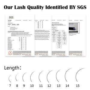 Image 5 - Lagee 5 casos/lote todo o tamanho extensões de cílios individuais premium falso sintético vison cílios falsos macio e natural