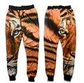 Alisister 2017 novos homens da moda/calças legging básicos das mulheres da cópia do tigre skinny sweatpants hip hop calças calças corredores impressos calças