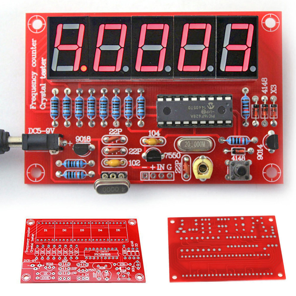 DIY Kits RF 1Hz-50MHz Crystal Oscillator Frequency Counter Meter Digital LED Tester Meter frequency meter digital