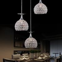 Contemporary And Contracted Three Creative Crystal Droplight Of Led Lamps And Lanterns Of Droplight Restaurant Bar