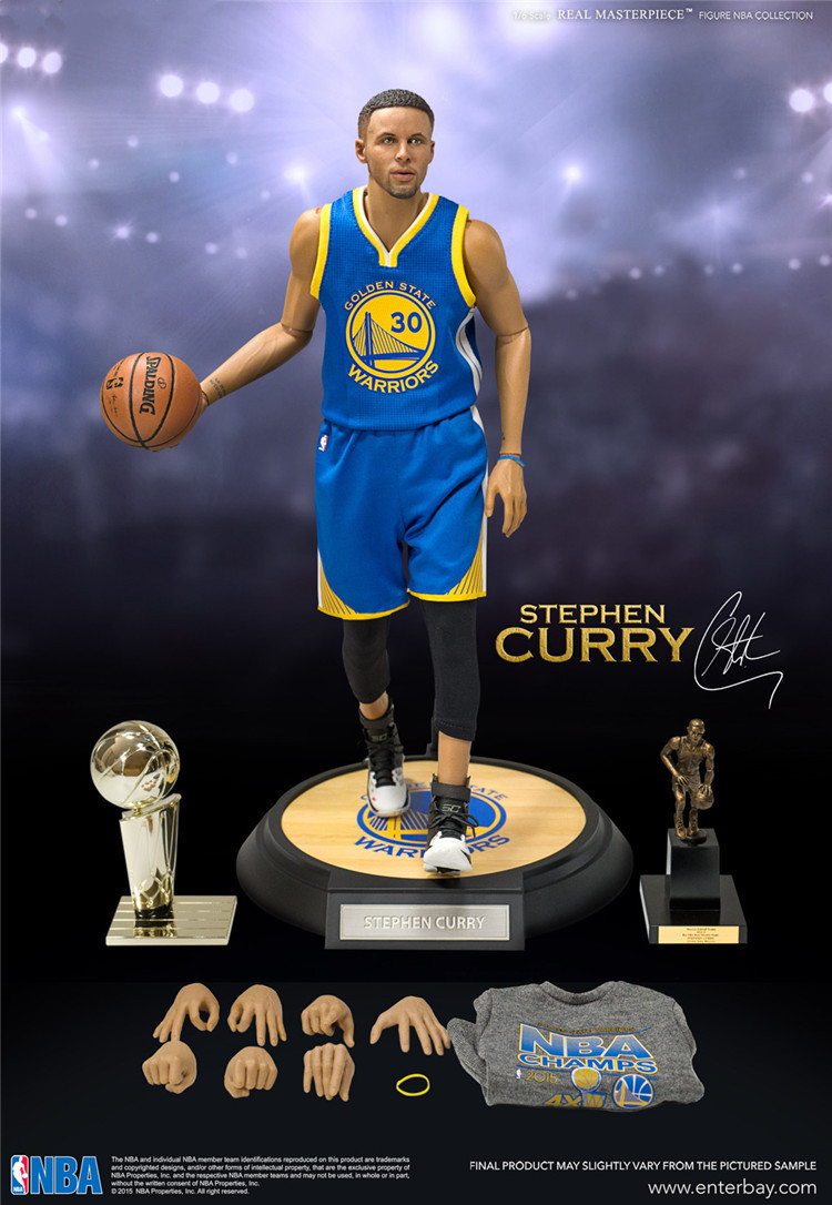 97292b427729 NBA Stephen Curry Golden State 40 Champion Blue Set Action Figure Toy PVC 1  6 Collection Model Dolls Christmas Present for Boys-in Action   Toy Figures  from ...