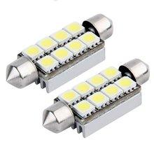 2X8 LED SMD CANBUS 214 569 Lâmpada Interior Luz 43mm