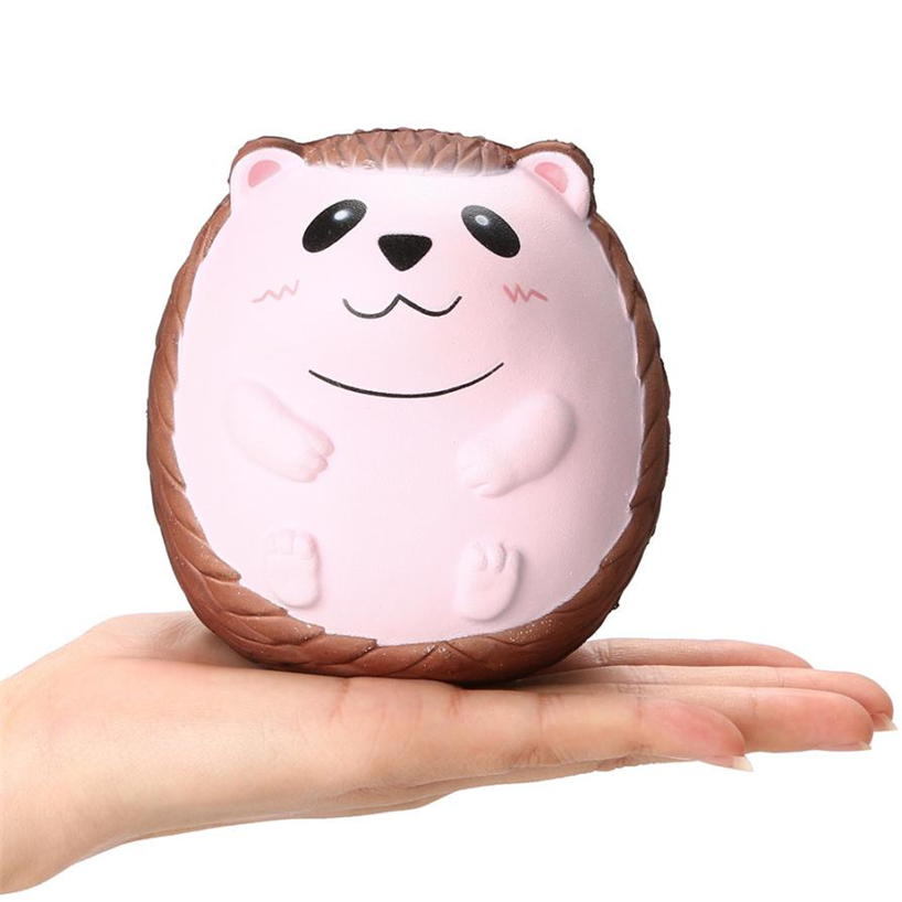 2018NEW Squishy Cute Hedgehog Scented Charm Slow Rising Squeeze Stress Reliever Toy Kid Toys jumbo squishy cute glasses bear scented charm super slow rising squeeze toy