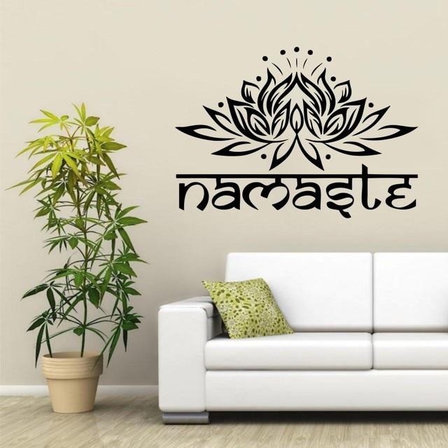 Wall Decal Home Decoration Yoga Lotus Namastle Meditation Wall