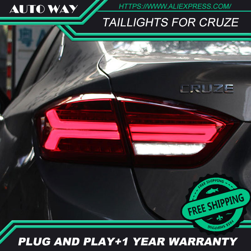 Car Styling case for Chevrolet Cruze taillights 2017-2018 Design LED Cruze taillight TAIL Lights All LED Rear Lamp free shipping for vland car tail lamp for civic led taillight 2016 2017 with spoiler light all led design