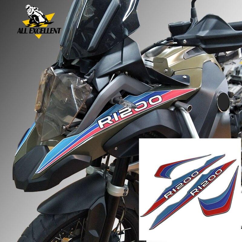 Tout Véhicule Autocollants Pour BMW R1200GS ADV 2013 2014 2015 2016 3D Silicone Côté Réservoir Tampon Autocollant Emblème Ensemble