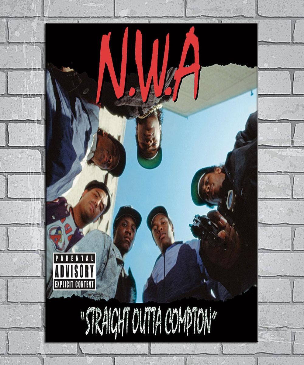 N1039 Nwa Straight Outta Compton Hip Hop Singer Light Canvas
