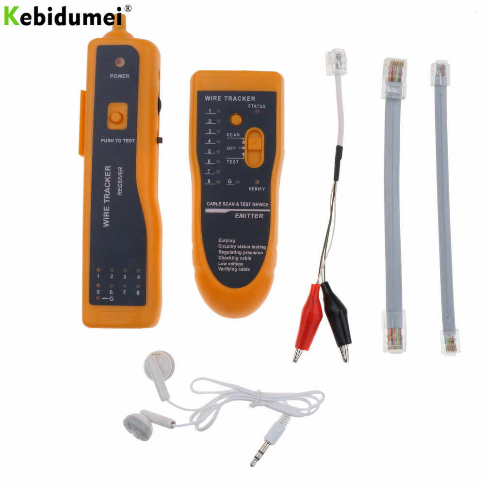 small resolution of kebidumei ethernet lan network cable tester utp stp rj11 rj45 cat5 cat6 telephone wire tracker tracer