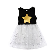 2018 Charm Bling Stars Toddler Kids Baby Girls Princess Pageant Party Tutu  Dressy Clothes 0cca29888f81
