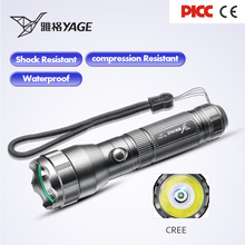 YAGE YG-332C Flashlight XP-E 300-1000LM Powerful CREE LED Flashlight Tactica Waterproof Torch light with 18650 Battery Lanterns yage yg 5710 cree 350lm rechargeable led industrial flashlight torch