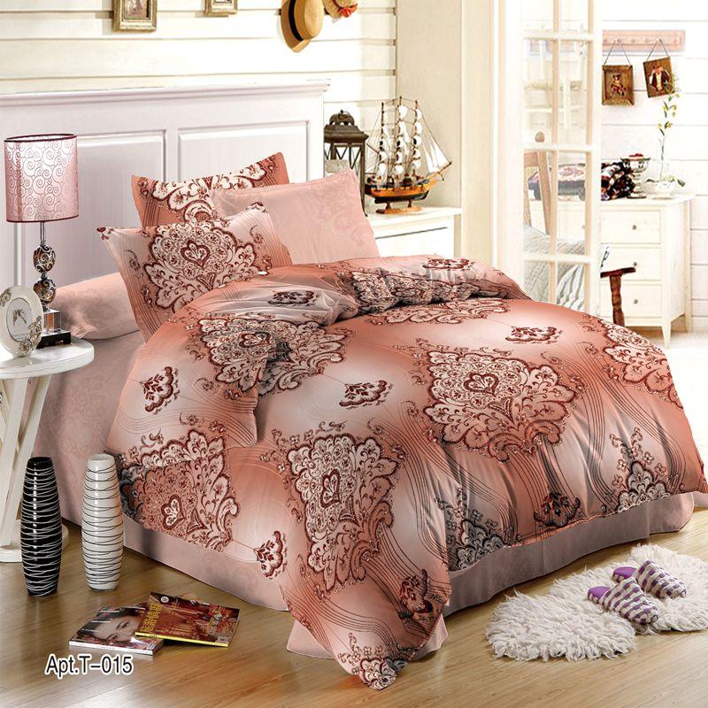 Moscow Fashion Brand Satin Premium Bedding Set Russian Supply Designer Tencel Cotton Bed Comfort Bedding Set Combination Jacquar